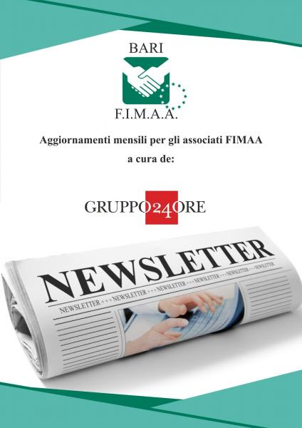 NEWS LETTER FIMAA BARI - SOLE 24H